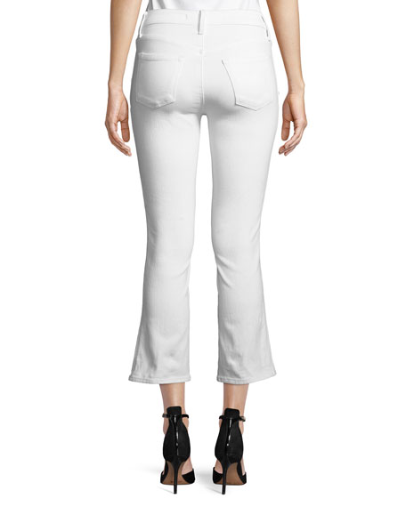 Zion Mid-Rise Crop Boot Sateen Jeans