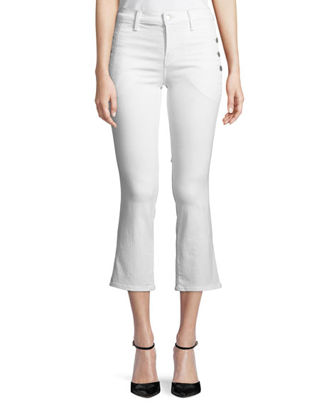 J Brand Zion Mid-Rise Crop Boot Sateen Jeans