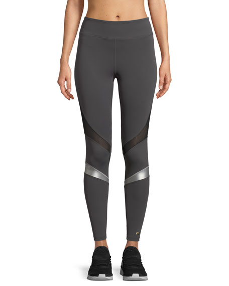 Powerful Leggings with Metallic Stripes