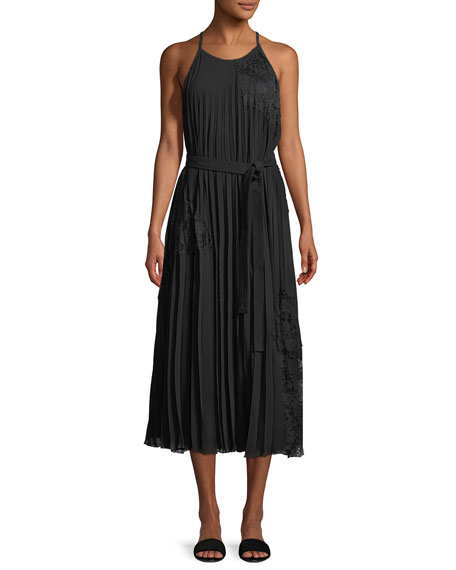 Derek Lam 10 Crosby Sleeveless Pleated Cami Dress