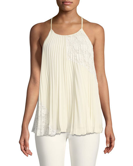 Derek Lam 10 Crosby Pleated Camisole Blouse with