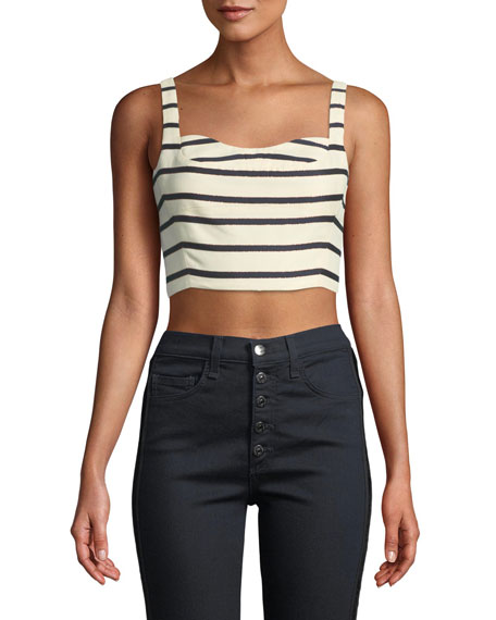 Gina Striped Bustier Crop Top