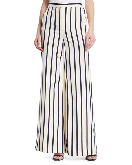 Xena striped cotton trousers Veronica Beard Cheap New Arrival Outlet Store For Sale Cheap Sale Order Cheap Price Factory Outlet zV1Xx