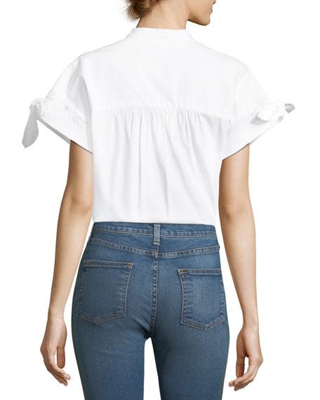 Sanaa Button-Front Cotton Shirt
