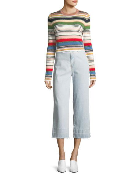 Palmas Metallic Striped Sweater