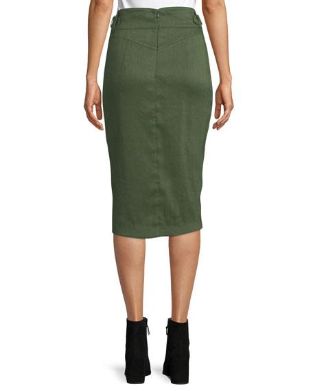 Silas Linen Wrap Skirt