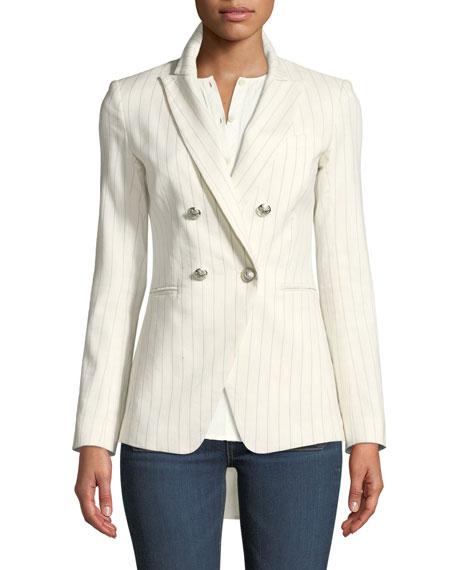 Apollo Linen/Cotton Double-Breasted Jacket