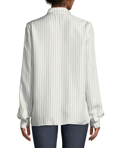 Blythe Striped Button-Down Top