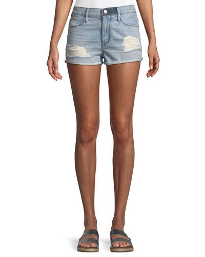 Ace Distressed Cutoff Denim Shorts