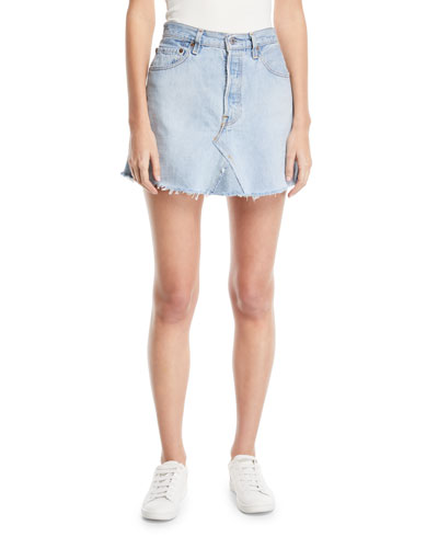 Vintage One-of-a-Kind Denim Mini Skirt