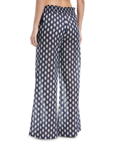 Wide-Leg Cotton Beach Pants