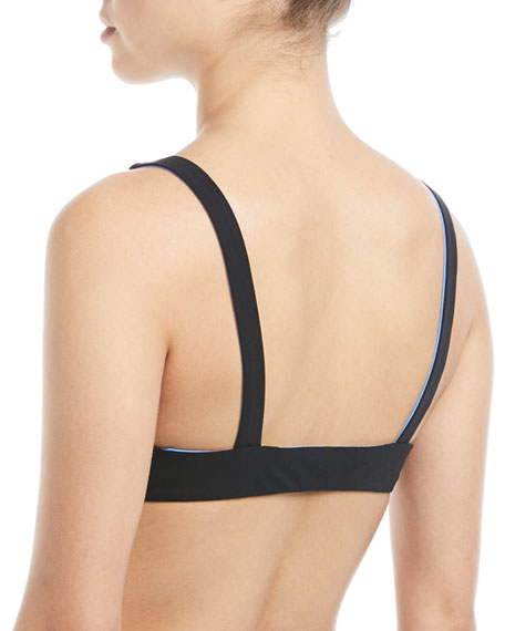 Biarritz Reversible Tie-Front Solid Swim Top