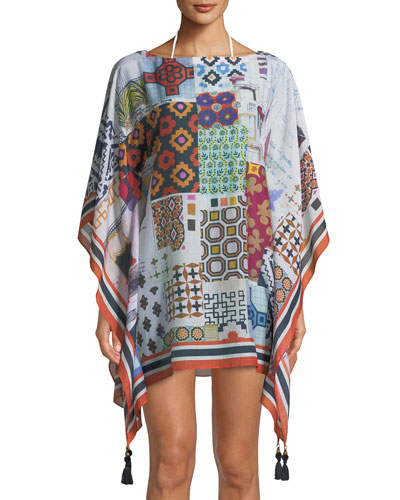 Scrapbook Printed Beach Caftan Coverup