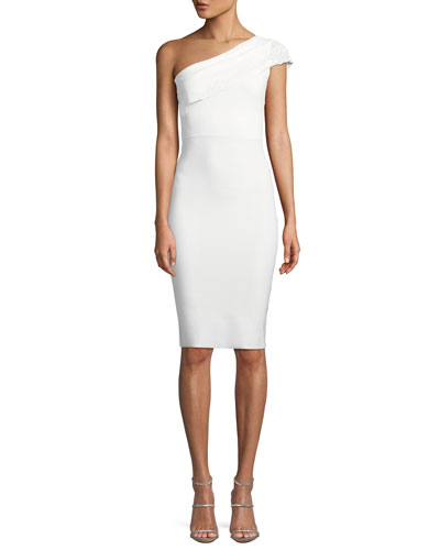 Dedy Asymmetric One-Shoulder Cocktail Dress