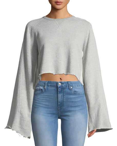 7 for all mankind Crewneck Flare-Sleeve Sweatshirt