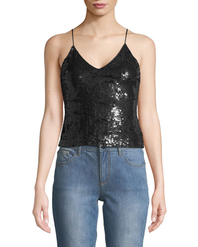 Delray Embellished Sequin Tank Top