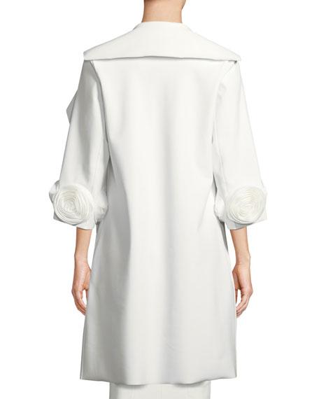 Margit Open-Front 3D Rose Topper Coat