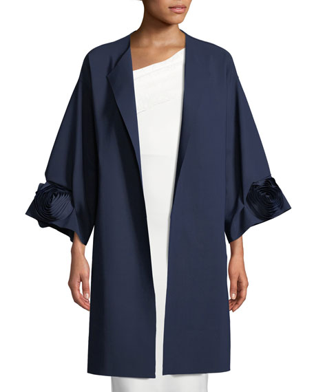 Malyn Rose Open-Front Topper Coat