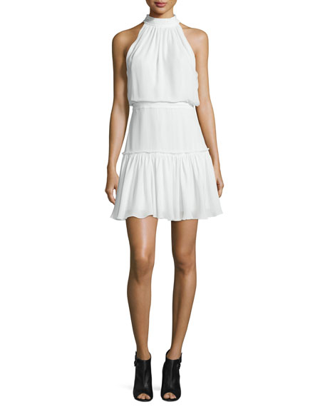 Elizabeth and James Carlita Halter-Neck Mini Dress
