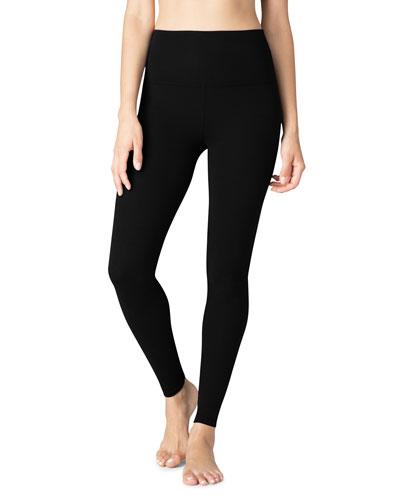 High-Waist Performance Leggings, Black