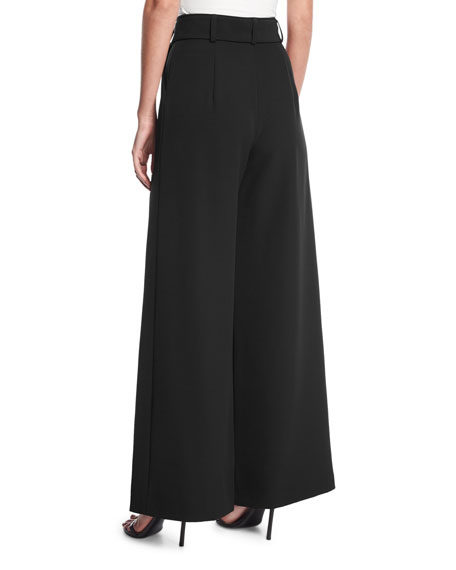 Natalie Tie Waist Wide Leg Pants by Milly