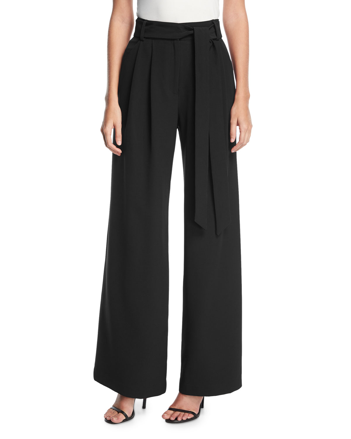 9aa1cc4a5f49 Quick Look. Milly · Natalie Tie-Waist Wide-Leg Pants