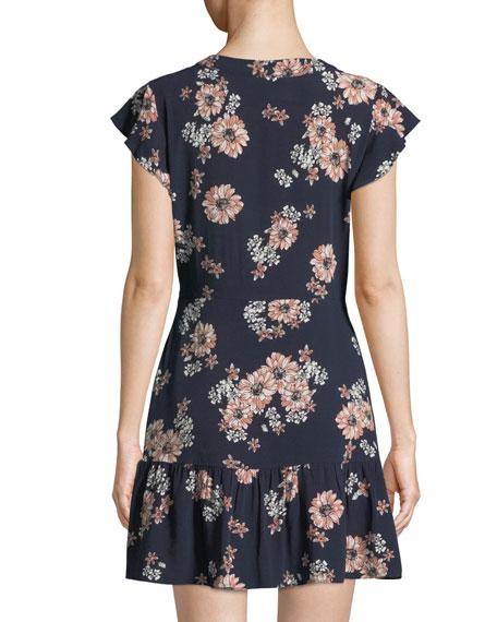 Dalma V-Neck Sleeveless Floral-Print Dress