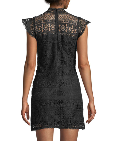 Delight Sleeveless Lace Sheath Dress