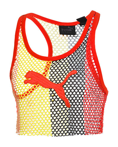 Basketball-Mesh Cropped Tank Top