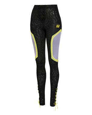 acaaeaba12e Fenty Puma by Rihanna Paneled Mesh Dolphin Pants