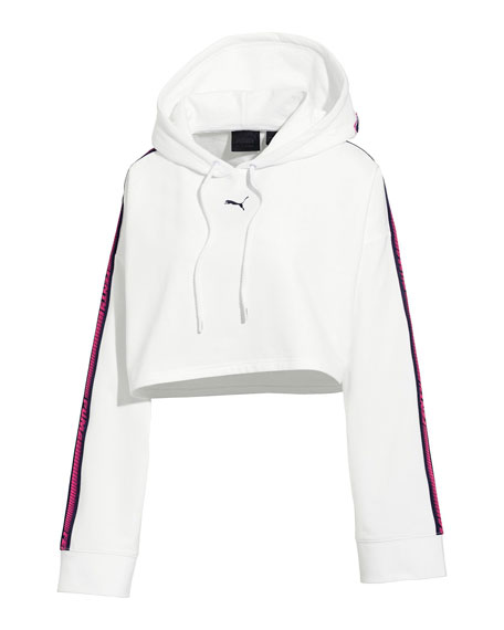 Fenty Puma by Rihanna Hooded Cropped Sweatshirt w/