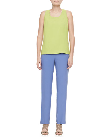 Solid Pull-On Pants, Petite
