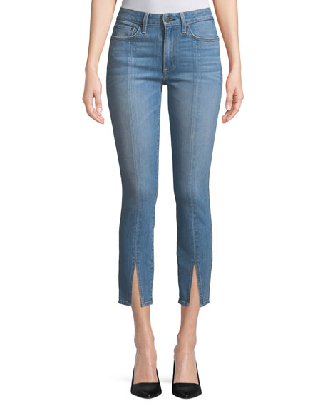 AO.LA Good Mid-Rise Straight-Leg Ankle Jeans w/ Front