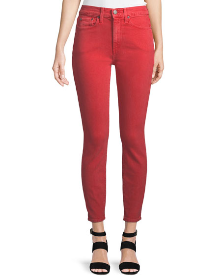 AO.LA Ao. La Good High Rise Ankle Skinny Jeans in Perfect Poppy