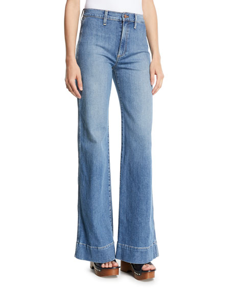 AO.LA by Alice+Olivia Gorgeous High-Rise Wide-Leg Jeans w/