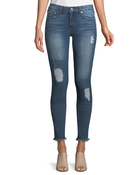 Derek Lam 10 Crosby Devi Mid-Rise Authentic Skinny-Leg