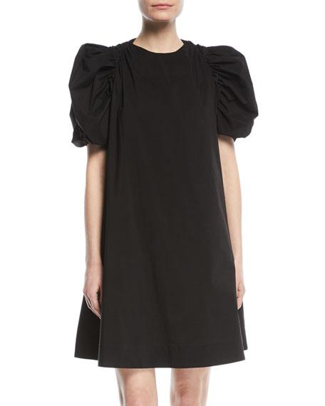 Paskal Puff-Sleeve Cotton A-Line Mini Dress