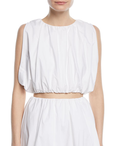 Sleeveless Puffy Cotton Crop Top