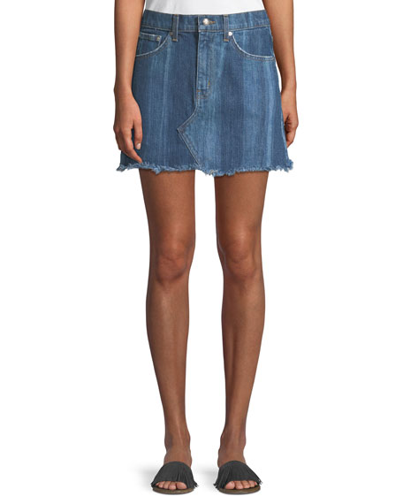 Derek Lam 10 Crosby Cleo Denim Mini Skirt