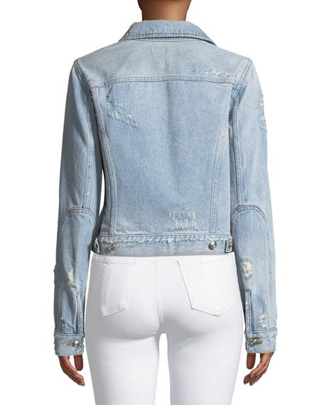 Nico Distressed Cropped Jean Jacket