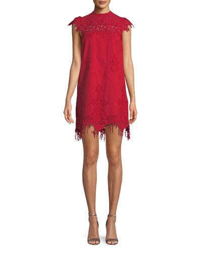 Frances Floral Fringe Mini Dress