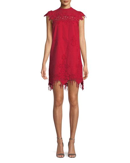 Saylor Frances Floral Fringe Mini Dress