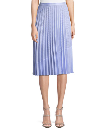 Serenity Shirting Stripe Skirt