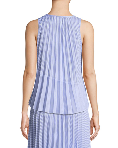 Hailey Shirting Stripe Tank Top