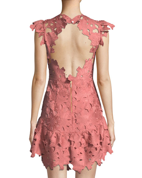 Samantha Floral Guipure Mini Dress