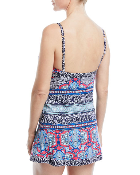 Riviera Tiles Hipster Swim Skirt