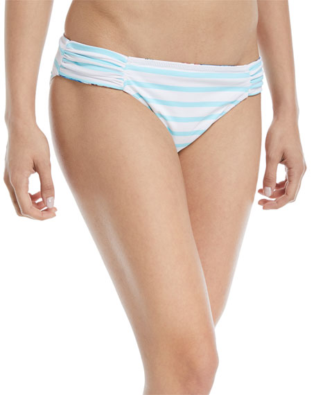 Fronds Ferdinan Reversible Side-Shirred Hipster Swim Bikini Bottoms