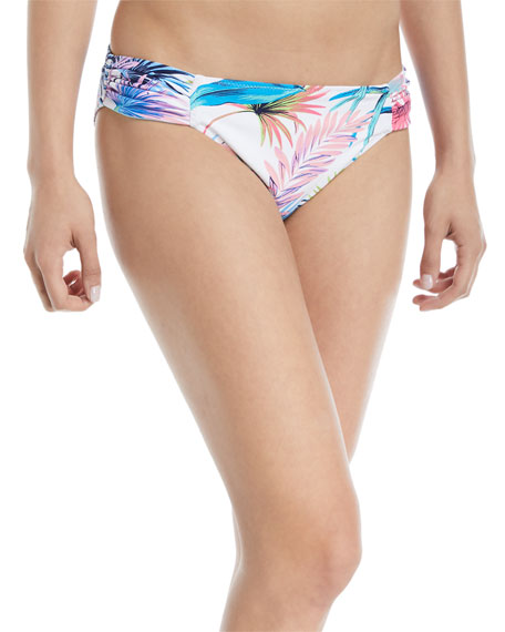 Tommy Bahama Fronds Ferdinan Reversible Side-Shirred Hipster Swim