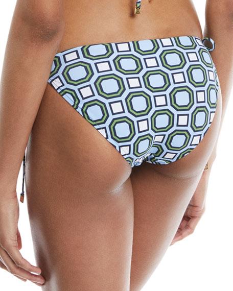 Geo-Print Tie-Side Swim Bottoms