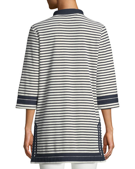 Tory Striped Cotton Tunic